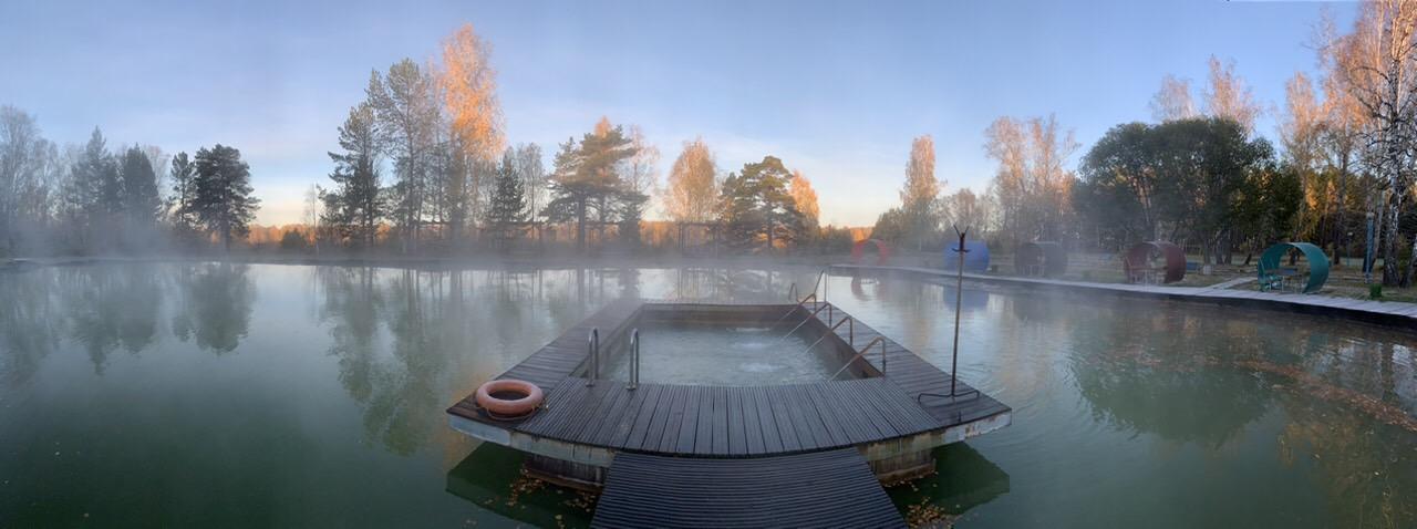 Термальное озеро , зона для пикника, беседки, мангалы